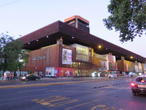 Gabriela Mistral Museum i Santiago de Chile Arkivbild