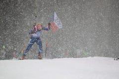 Gabriela Soukalova - world cup in biathlon Stock Images