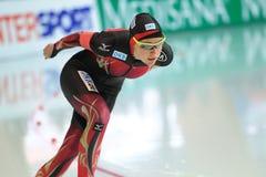 Gabriele Hirschbichler - speed skating Stock Image