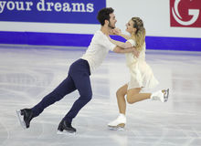 Gabriella Papadakis and Guillaume Cizeron from France Stock Image