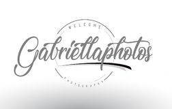 Gabriella Personal Photography Logo Design με το φωτογράφο Nam Στοκ εικόνα με δικαίωμα ελεύθερης χρήσης