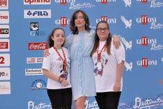 Gabriella Pession στο φεστιβάλ 2016 ταινιών Giffoni στοκ φωτογραφία