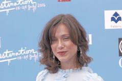 Gabriella Pession al festival cinematografico 2016 di Giffoni Immagine Stock Libera da Diritti
