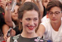 Gabriella Pession al festival cinematografico 2016 di Giffoni Fotografia Stock Libera da Diritti