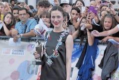 Gabriella Pession al festival cinematografico 2016 di Giffoni Immagine Stock