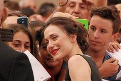 Gabriella Pession al festival cinematografico 2016 di Giffoni Immagini Stock