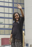 Gabrielle Douglas. Waves to crowds at the  Neptune Festival in Virginia Beach, VA Stock Image