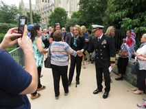 Gabrielle Giffords Meeting la folla in Washington DC fotografia stock libera da diritti