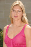 Gabrielle Reece. Actress GABRIELLE REECE at luncheon given by Estee Lauder to launch their new perfume pleasures by Gwyneth Paltrow at the Greystone Estate in Stock Photos
