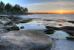 Gabriola Island Coast Sunset Royalty Free Stock Photo