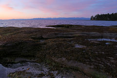 Gabriola Island Shore at Dusk Stock Photos