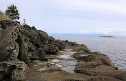 Gabriola Island Worn Coast Royalty Free Stock Photos
