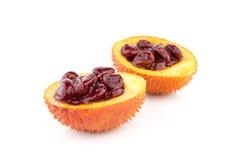 Gac fruit, Baby Jackfruit, Spiny Bitter Gourd, Sweet Grourd or Cochinchin Gourd Royalty Free Stock Image