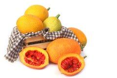 Gac fruit, Baby Jackfruit, Spiny Bitter Gourd Royalty Free Stock Photos