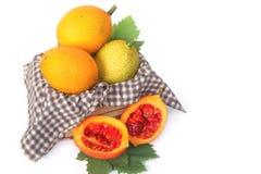 Gac fruit, Baby Jackfruit, Spiny Bitter Gourd Royalty Free Stock Images