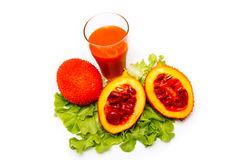 Gac. Fruit juice for healthy eating Royalty Free Stock Photos