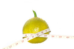 Gac fruit with measurement Royalty Free Stock Photos