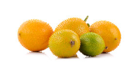 Gac fruit , Typical of orange-colored plant foods in Asia Stock Photo