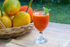 Gac fruktfruktsaft Arkivbilder