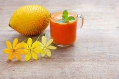 Gac fruktfruktsaft Arkivfoto