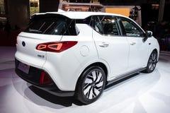 GAC GE3 electric car. PARIS - OCT 2, 2018: GAC GE3 electric car showcased at the Paris Motor Show royalty free stock photo