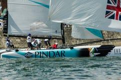 GAC Pindar compiten en el extremo Foto de archivo