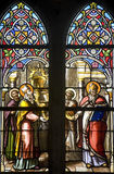 Gace - Stained glass Stock Images