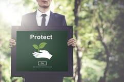 Gacenia oszczędzania ochrony zapobiegania ochrony Zbawczy pojęcie Obraz Stock