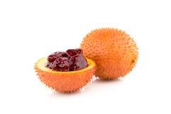 Gacfruit, Baby Jackfruit, Doornige Bittere Pompoen, Zoete Grourd of Cochinchin-Pompoen Stock Foto