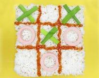 Gachas de avena creativas del arroz Fotografía de archivo libre de regalías