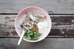 Gachas de avena del arroz, Congee en receta china Fotografía de archivo