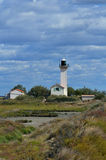 The Gacholle lighthouse in Camargue natural park Royalty Free Stock Photos