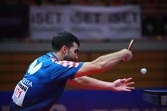 GACINA Andrej backhand. GACINA Andrej from Croatia backhand. 2017 European Championships - quarter final. Luxembourg Stock Photo