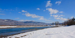Gacka river in winter Royalty Free Stock Photos
