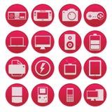 Gadżet technologii ikony gradientu ustalony styl Zdjęcie Royalty Free