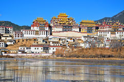 Gadan Songzanlin喇嘛寺院 库存图片