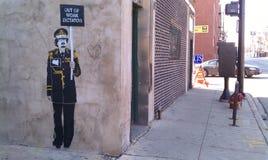 Gaddafi in the Skylark alley royalty free stock image