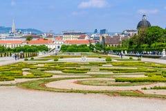 Gaden du palais de belvédère à Vienne, Autriche photo stock