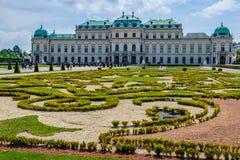 Gaden du palais de belvédère à Vienne, Autriche photographie stock