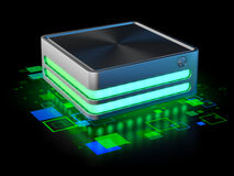 Gadget concept - hard disc drive Royalty Free Stock Images