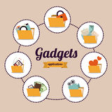 Gadget design Stock Photography