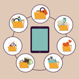 Gadget design Royalty Free Stock Image