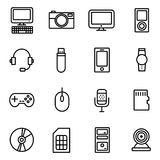Gadget And Device Icons Stock Photography