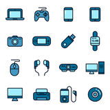 Gadget And Device Icons Royalty Free Stock Photography
