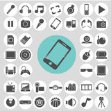 Gadget and entertainment icon set. Stock Photos