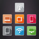 Gadget flat color icons Royalty Free Stock Image