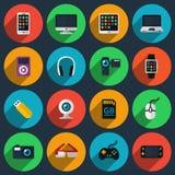 Gadget flat icons Royalty Free Stock Image