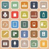 Gadget flat icons on orange background Royalty Free Stock Photo