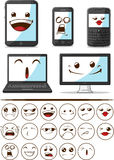 Gadget with Funny Expression Stock Photo