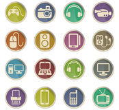 Gadget icon set Royalty Free Stock Photography
